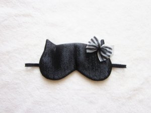Sparkling Black Cat Eye Mask