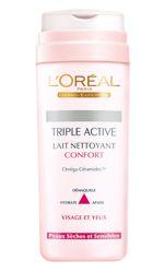 Lait Nettoyant Confort - Triple Active de L'Oréal